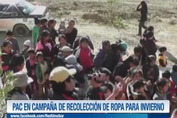 PAC EN CAMPAÑA DE RECOLECCIÓN DE ROPA PARA INVIERNO