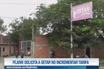 FEJUVE SOLICITA A SETAR NO INCREMENTAR TARIFAS