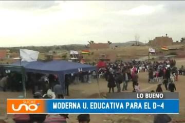 LO BUENO: UNIDAD EDUCATIVA PARA EL D-4