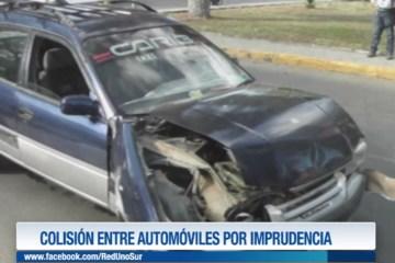 COLISIÓN ENTRE AUTOMÓVILES POR IMPRUDENCIA