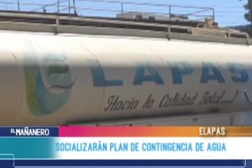 SOCIALIZARÁN PLAN DE CONTINGENCIA DE AGUA