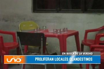 EN BUSCA DE LA VERDAD: CONSUMO DE ALCOHOL Y LOCALES CLANDESTINOS