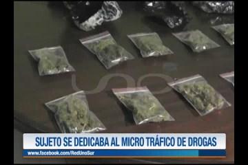 SUJETO SE DEDICABA AL MICROTRÁFICO DE DROGAS