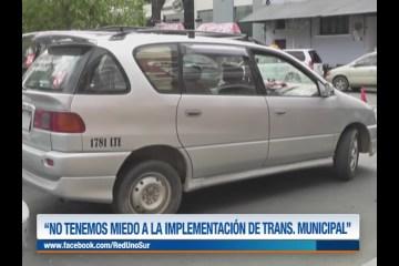 """""""NO TENEMOS MIEDO A LA IMPLEMENTACIÓN DE TRANSPORTE MUNICIPAL"""""""
