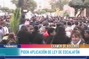 MAESTRO PIDEN AMPLIACIÓN DE LEY DE ESCALAFÓN