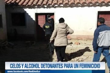CELOS Y ALCOHOL DETONANTES PARA UN FEMINICIDIO