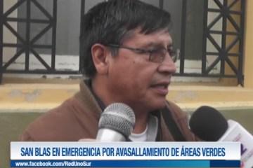 SAN BLAS EN EMERGENCIA POR AVASALLAMIENTO DE ÁREAS VERDES