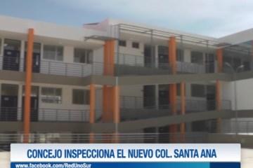 CONCEJO INSPECCIONA EL NUEVO COLEGIO SANTA ANA