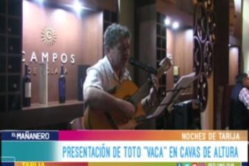 """NOCHES DE TARIJA: """"TOTO"""" VACA"""