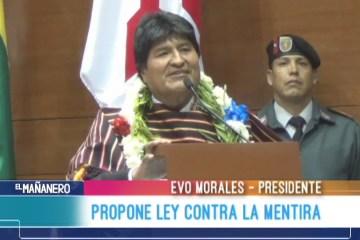 PROPONE LEY CONTRA LA MENTIRA