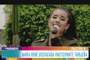 ENTREVISTA: MARÍA RENÉ PARTICIPANTE DE FACTOR X