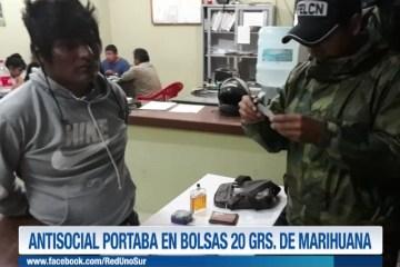 ANTISOCIAL PORTABA EN BOLSAS 20 GRS. DE MARIHUANA