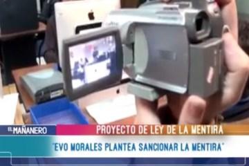 """EVO MORALES PLANTEA SANCIONAR LA MENTIRA"""