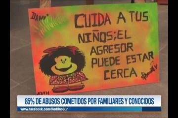 85% DE ABUSOS COMETIDOS POR FAMILIARES Y CONOCIDOS