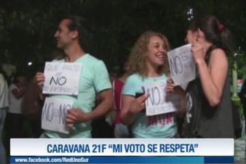 """CARAVANA 21F """"MI VOTO SE RESPETA"""""""