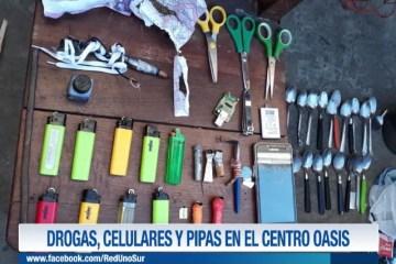 DROGAS, CELULARES EN EL CENTRO OASIS