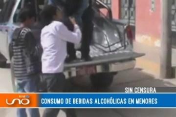 SIN CENSURA: ABUSO DEL ALCOHOL ENTRE LOS MENORES