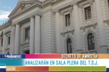 ANALIZAN DECRETO DE AMNISTÍA EN SALA PLENA DEL T.S.J.