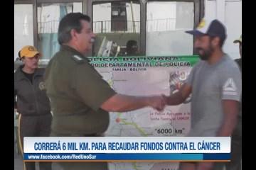 CORRERÁ 6 MIL KILÓMETROS PARA RECAUDAR FONDOS CONTRA EL CÁNCER