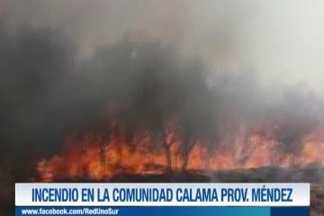 INCENDIO EN LA COMUNIDAD DE CALAMA