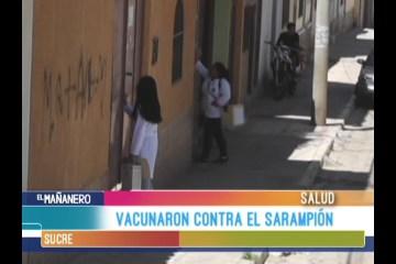 VACUNARON CONTRA EL SARAMPIÓN
