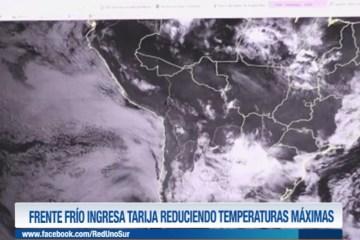 FRENTE FRIO INGRESA A TARIJA REDUCIENDO TEMPERATURAS MÁXIMAS