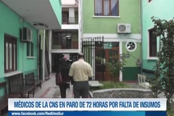 MÉDICOS DE LA CNS EN PARO DE 72 HORAS POR FALTA DE INSUMOS