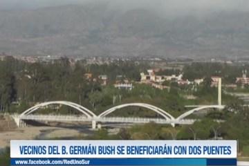 VECINOS DEL BARRIO GERMÁN BUSH SE BENEFICIARÁN CON DOS PUENTES