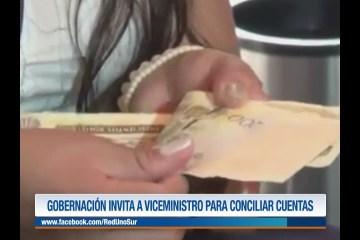 GOBERNACIÓN INVITA A VICEMINISTRO PARA CONCILIAR CUENTAS