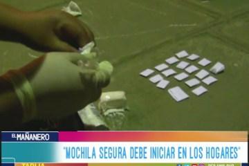 """""""MOCHILA SEGURA DEBE INICIAR EN LOS HOGARES"""""""
