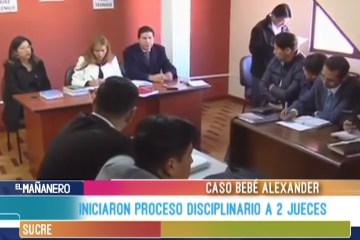 INICIARON PROCESO DISCIPLINARIO A 2 JUECES DEL CASO ALEXANDER