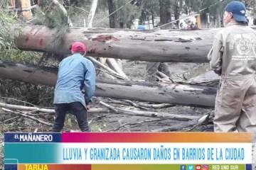 LLUVIA Y GRANIZADA CAUSARON DAÑOS EN BARRIOS DE LA CIUDAD
