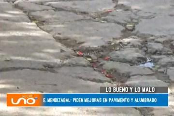 LO MALO: PIDEN MEJORAS EN PAVIMENTO Y ALUMBRADO