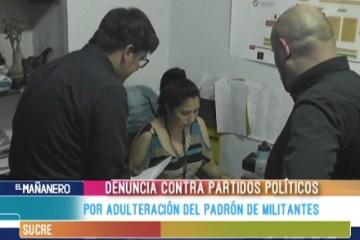 DENUNCIA CONTRA PARTIDOS POLÍTICOS POR ADULTERACIÓN DE PADRÓN DE MILITANTES