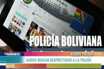 """""""AUDIOS BUSCAN DESPRESTIGIAR A LA POLICÍA"""""""