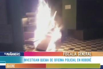 INVESTIGAN QUEMA DE OFICINA POLICIAL EN ROBORÉ