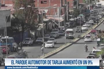 EL PARQUE AUTOMOTOR DE TARIJA AUMENTÓ EN UN 9%.