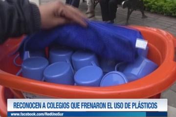 RECONOCEN A COLEGIOS QUE FRENARON EL USO DE PLÁSTICOS