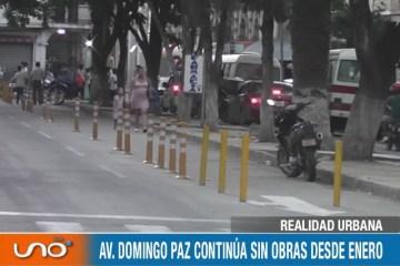 REALIDAD URBANA: AV. DOMINGO PAZ CONTINÚA SIN OBRAS DESDE ENERO