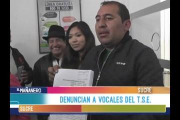 DENUNCIAN A VOCALES DEL TRIBUNAL SUPREMO ELECTORAL