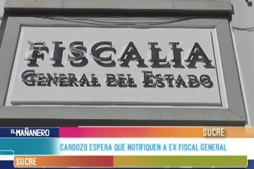CARDOZO ESPERA QUE NOTIFIQUEN A EX FISCAL GENERAL