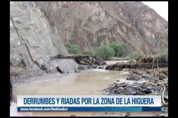 DERRUMBES Y RIADAS POR LA ZONA DE LA HIGUERA