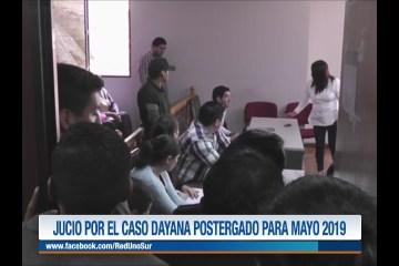 JUICIO POR EL CASO DAYANA POSTERGADO PARA MAYO DE 2019