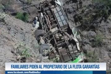 FAMILIARES PIDEN AL DUEÑO DE LA FLOTA GARANTÍAS