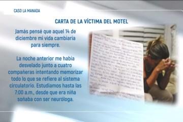 CARTA DE LA VÍCTIMA DEL MOTEL