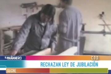 COD: RECHAZAN LEY DE JUBILACIÓN