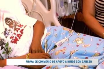 FIRMA DE CONVENIO DE APOYO A NIÑOS CON CÁNCER