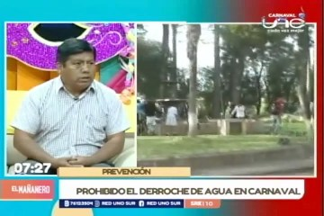 PROHIBIDO EL DERROCHE DE AGUA EN EL CARNAVAL