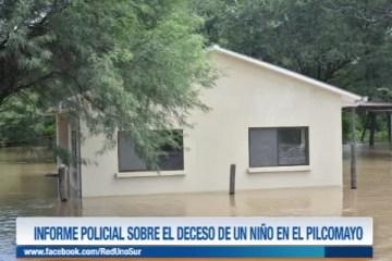 INFORME POLICIAL SOBRE EL DECESO DE UN NIÑO EN EL PILCOMAYO