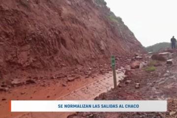 SE NORMALIZAN LAS SALIDAS AL CHACO